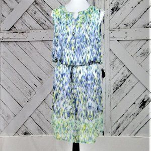 Liz Claiborne Sheer Watercolor Shirt Dress